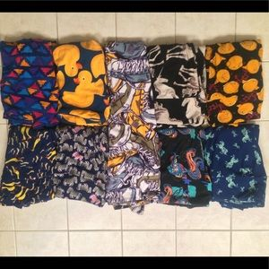 LULAROE ONE SIZE LEGGINGS BUNDLE MANY UNICORNS!
